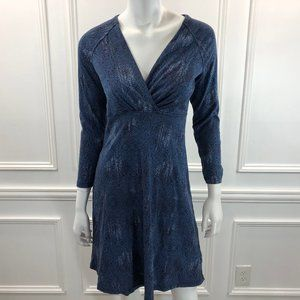 Patagonia S Metairie Dress Blue Fit Flare B5